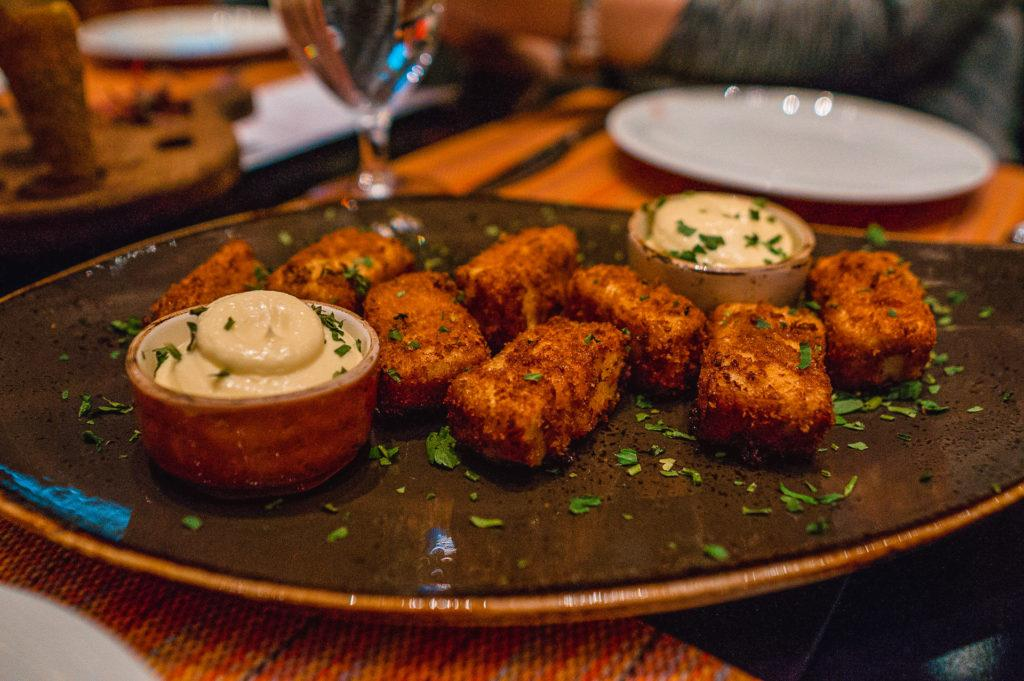 Spanish croquetas with chicken and a béchamel sauce at Julian Serrano Tapas in Las Vegas