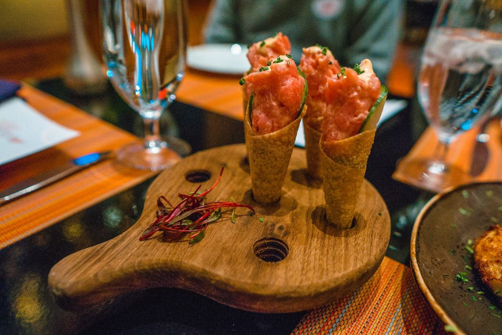 Ahi tuna cones from Julian Serrano Tapas in Las Vegas