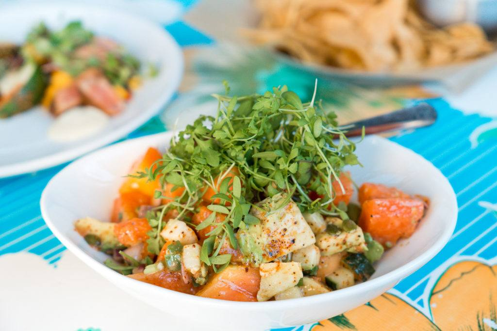 Papaya and avocado salad from The Fold in Little Rock - best restaurants in Little Rock