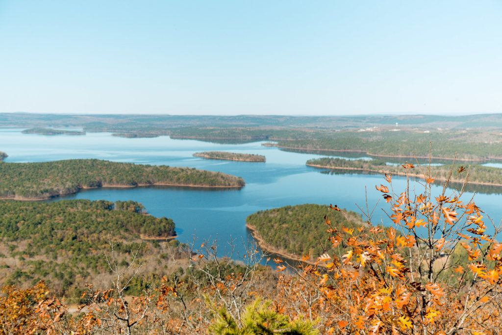 View from the top of Pinnacle Mountain in Little Rock, Arkansas
