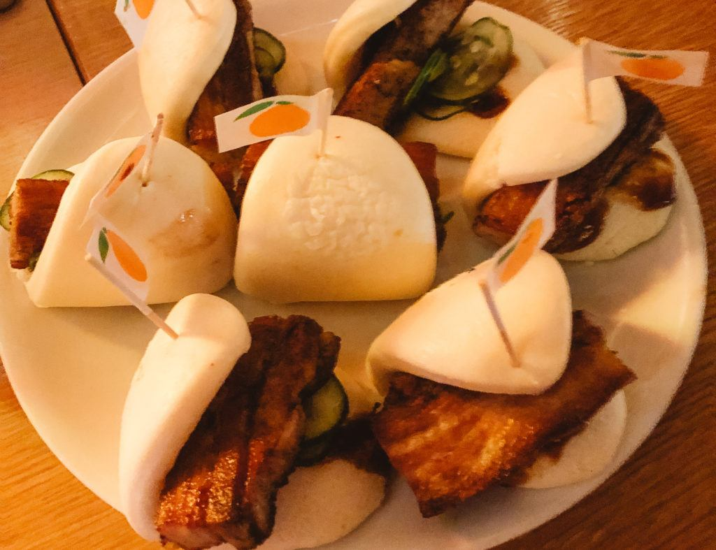 Pork belly buns from Momofuku in Las Vegas