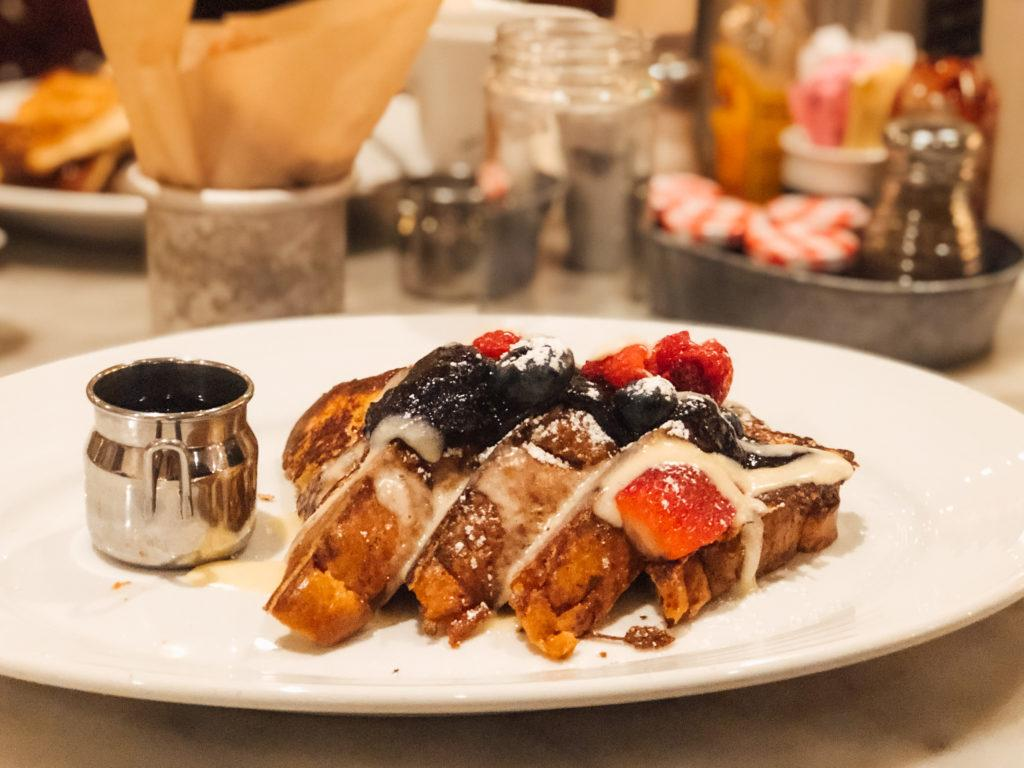 Mixed berry french toast from The Pantry in Las Vegas