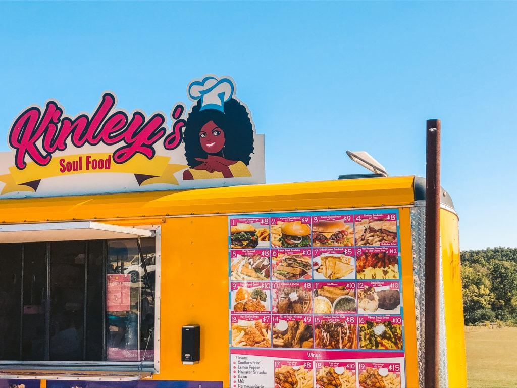 Kinley's Soul Food food truck in Fayetteville, Arkansas