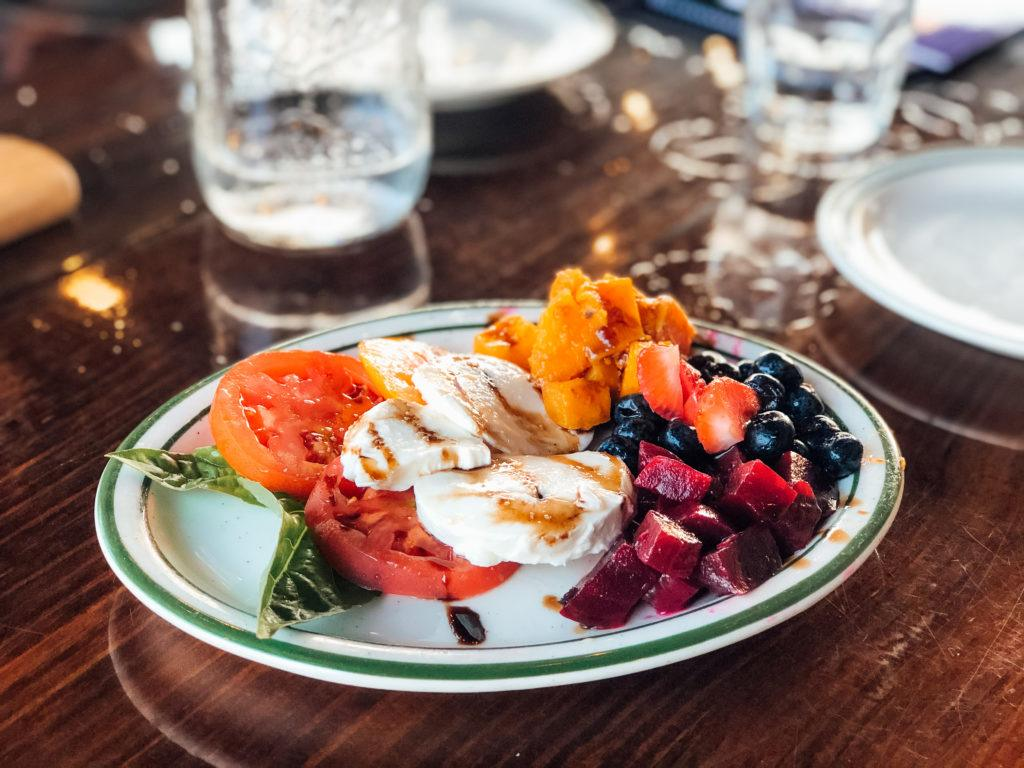 Mozzarella and beet salad from Mirabella's Table in Rogers, Arkansas