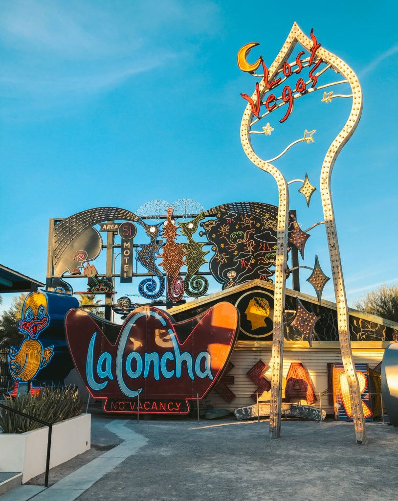 The Neon Museum in Las Vegas - girls trip to Vegas