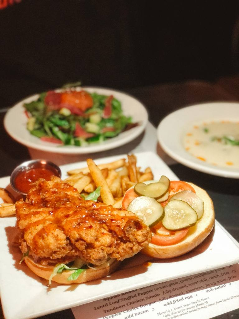 Tandoori chicken sandwich from Ciao Baci in Little Rock, Arkansas - places to eat in Little Rock