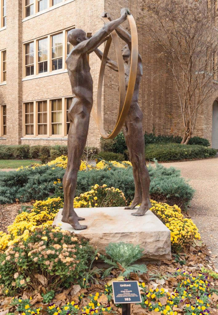 United Statue by Little Rock Central High School