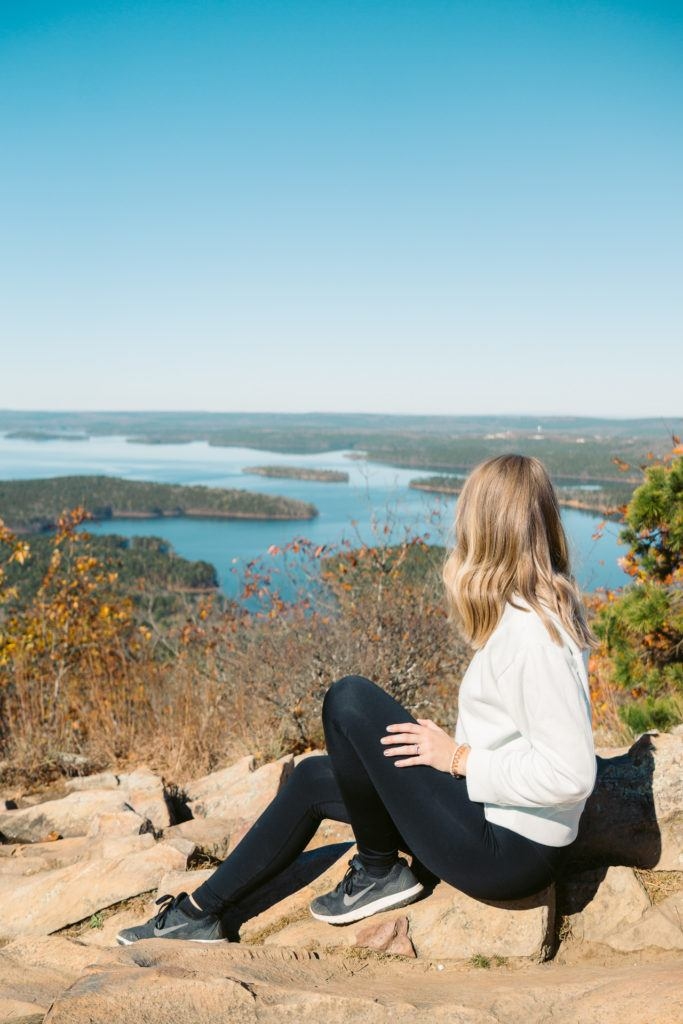 View from Pinnacle Mountain in Little Rock, Arkansas - hiking in Little Rock, things to do in Little Rock