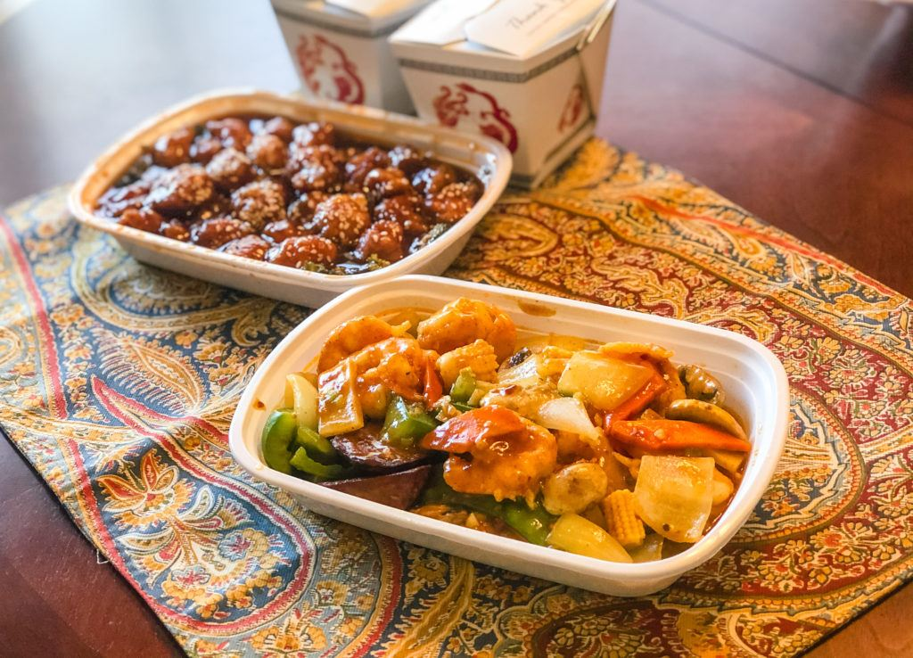 Chinese food dishes from Szechuan House in Springdale, Arkansas