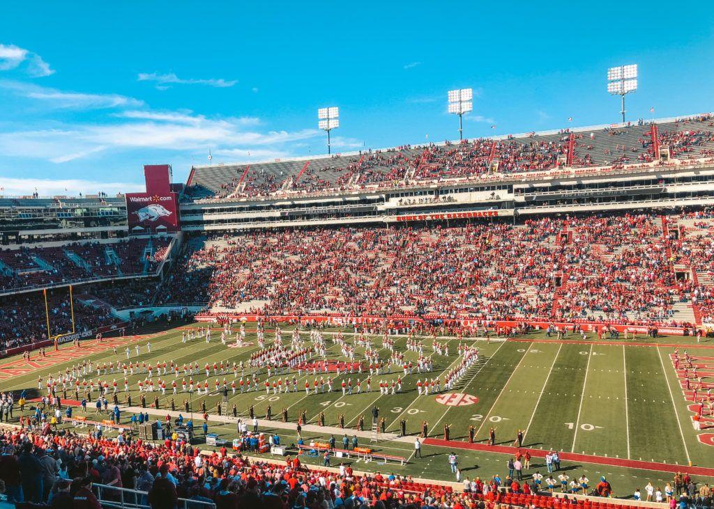 Donald W. Reynolds Razorback Stadium in Fayetteville, Arkansas - University of Arkansas Football