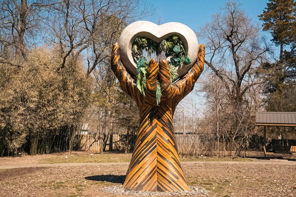 Compton Gardens sculpture - things to do in Bentonville, AR
