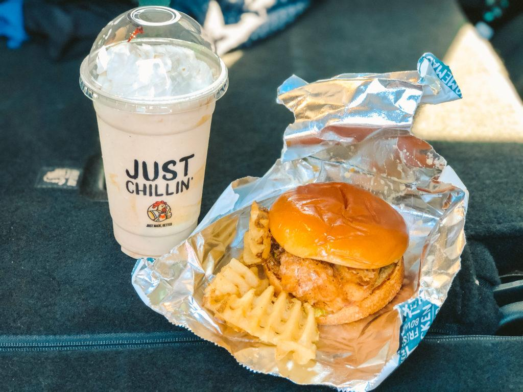 Honey Butter Chicken Sandwich from PDQ - best fast food restaurants in Sarasota