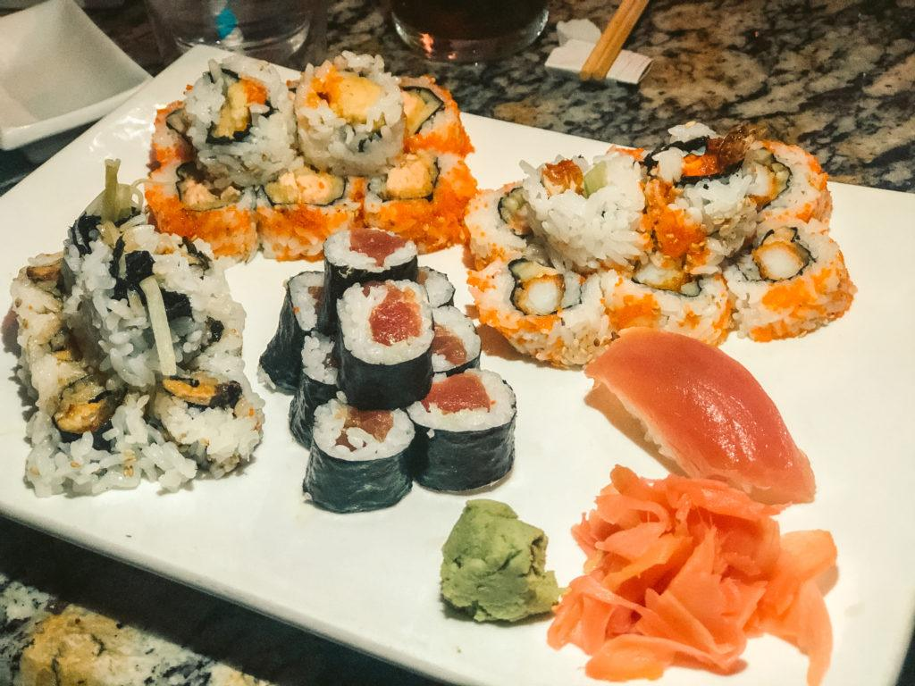 Variety of sushi rolls from Kiyoshi's Sushi in Sarasota, Florida