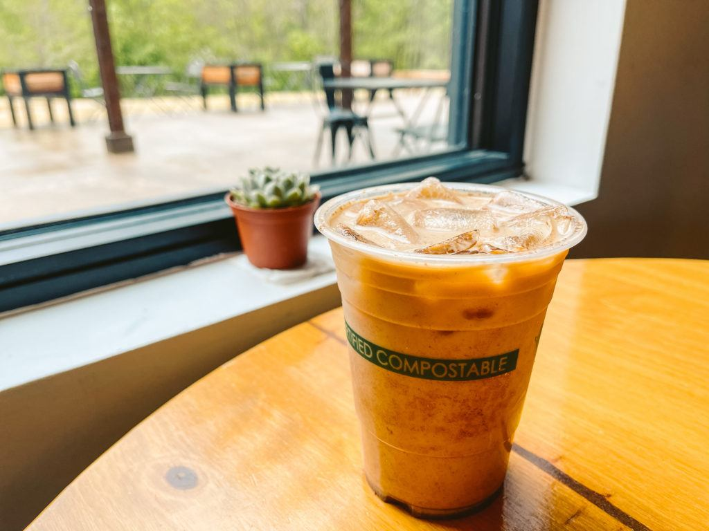 Iced latte from Old Pine Coffee Roasters - coffee shops in Northwest Arkansas