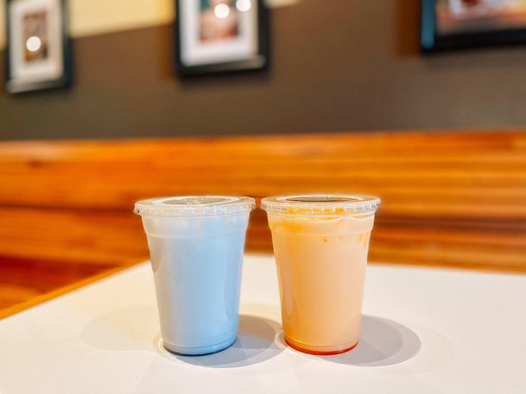 Lavender and Orange Cream Italian Sodas from Iron Horse Coffee Company - Rogers, Arkansas
