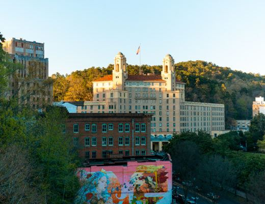 View of the Arlington Hotel in Hot Springs, Arkansas - things to do in Hot Springs