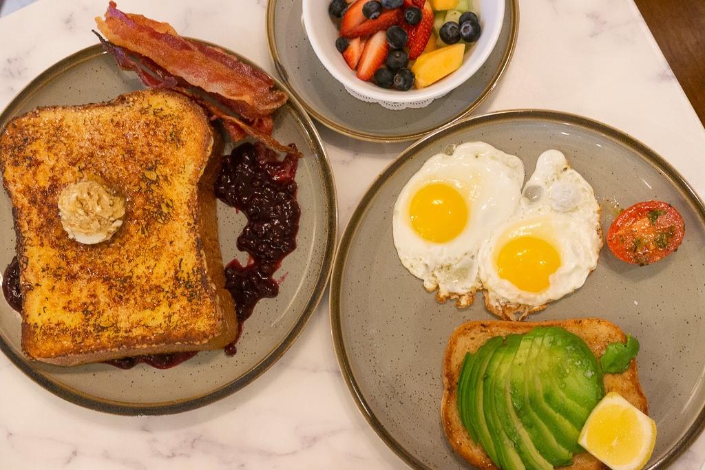 Breakfast spread from Best Cafe & Bar in Hot Springs, Arkansas