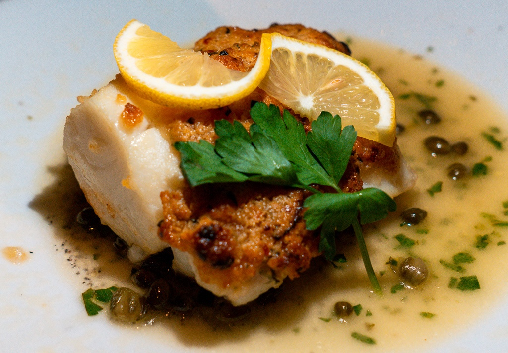 New England Baked Cod from Michael's on East in Sarasota - Sarasota restaurants