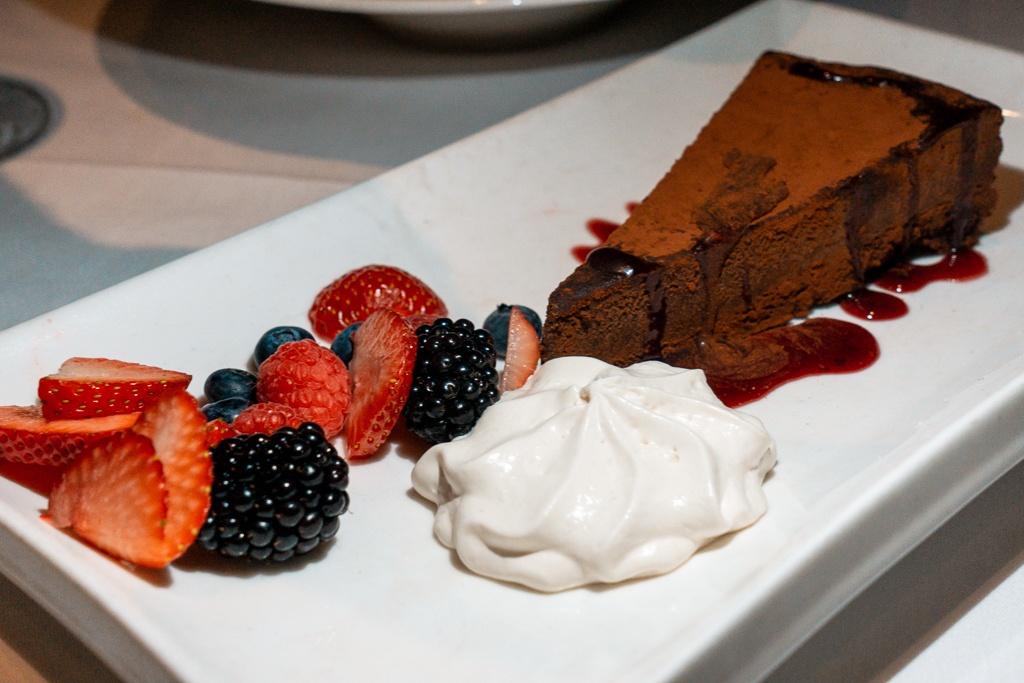 Flourless chocolate cake from Michael's on East in Sarasota, Florida - best restaurants in Sarasota