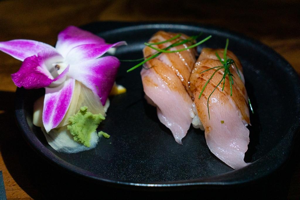 Hamachi Nigiri sushi from Kojo in Sarasota, Florida
