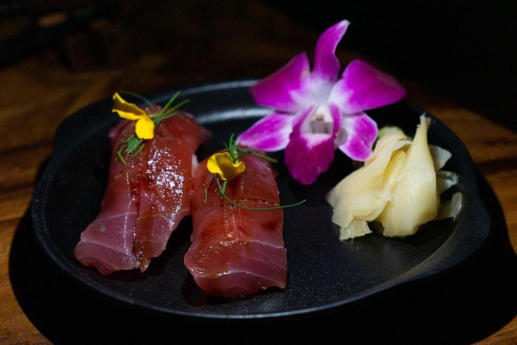 Toro nigiri from Kojo in Sarasota, Florida