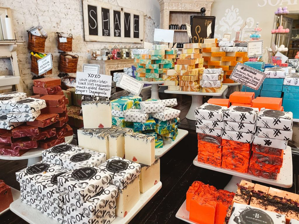 Downtown Hot Springs shops - the bathhouse soapery