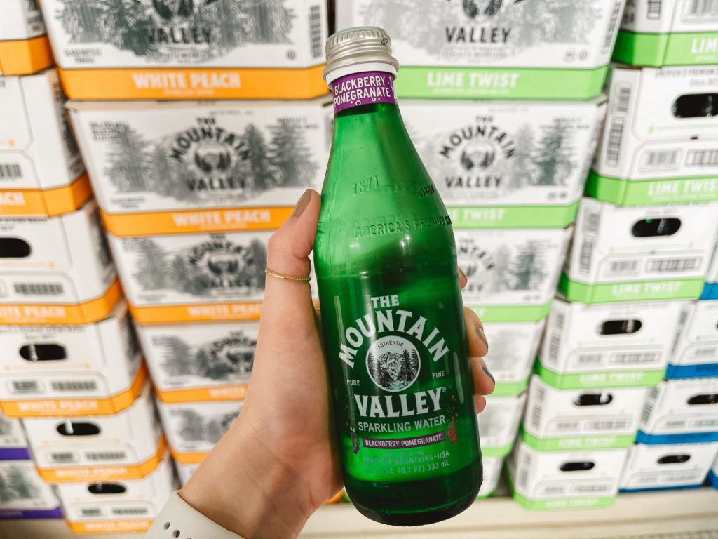 Bottle of sparkling water in Mountain Valley Spring water in Hot Springs
