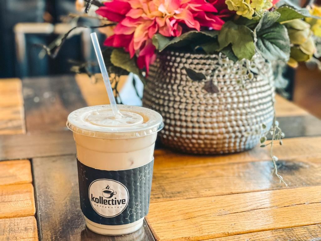 Tea latte from Kollective Coffee and Tea in Hot Springs, Arkansas