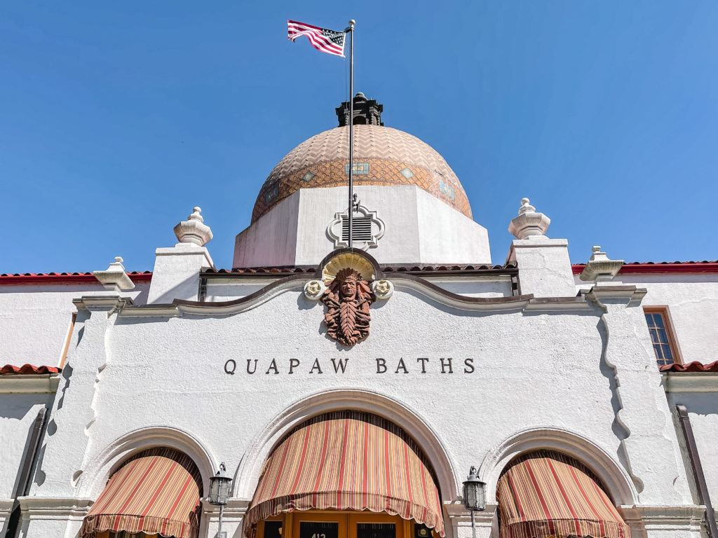 Outside of Quapaw Bathhouse in Hot Springs National Parks