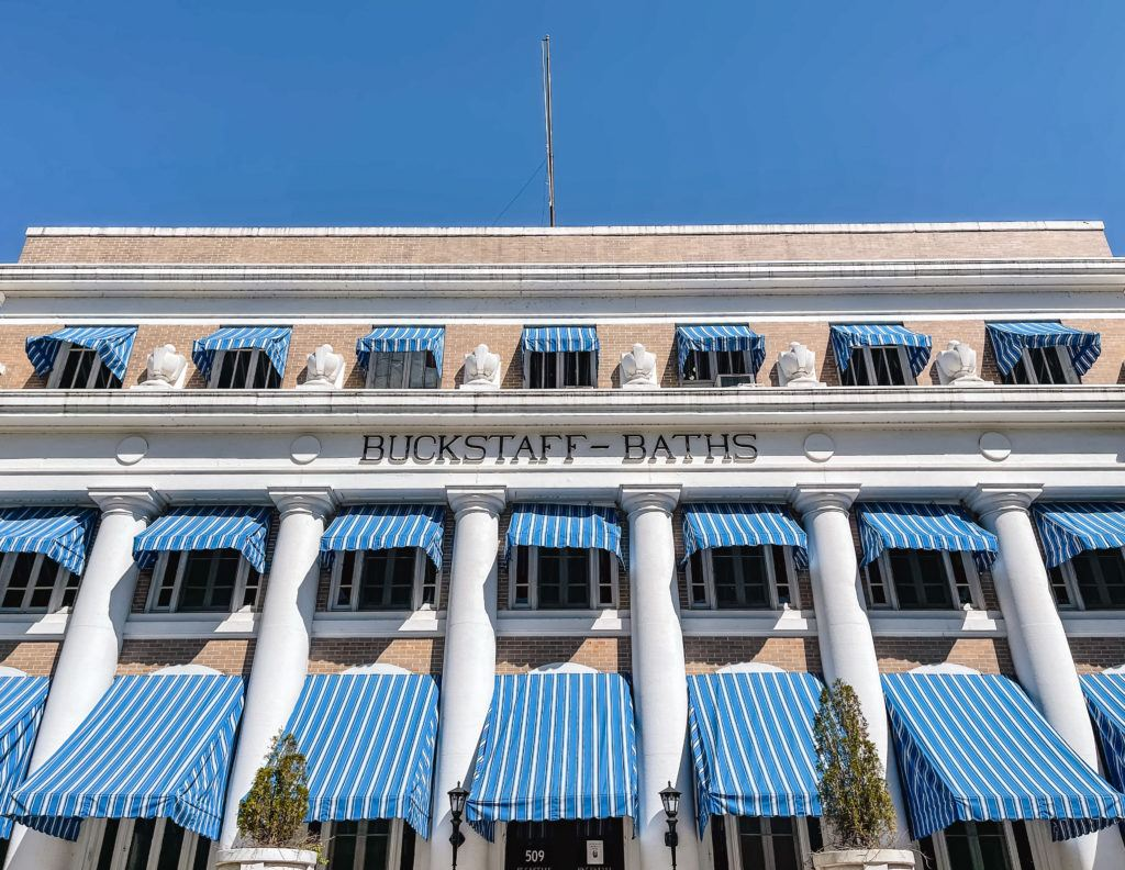 Outside of Buckstaff Bathhouse in Hot Springs National Park