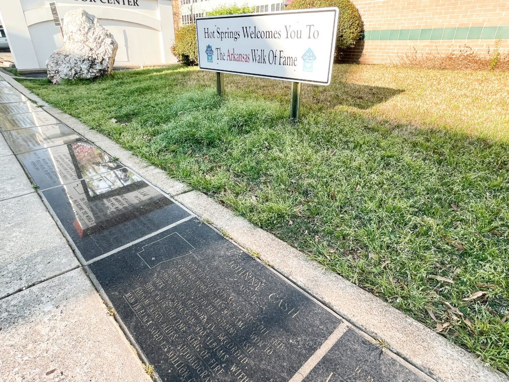 View of plaques at Arkansas Walk of Fame at Hot Springs National Park