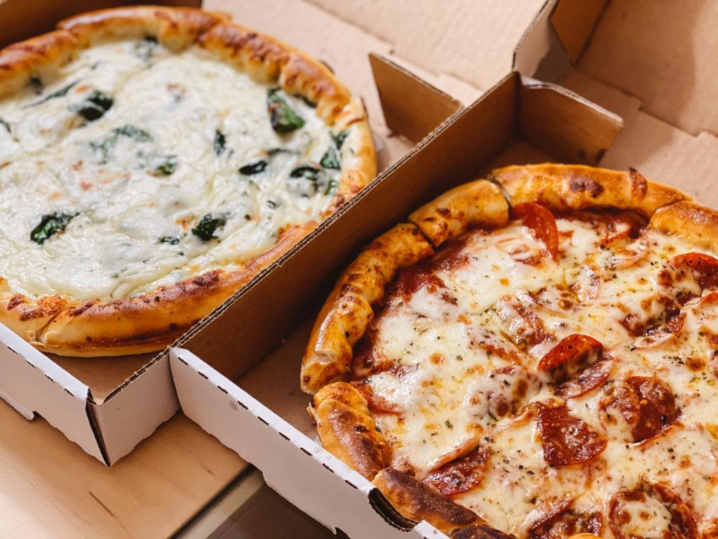Pizza from Rocky's Corner in Hot Springs, Arkansas