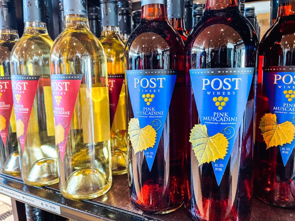 White and Red Muscadine Wines from Post Winery in Arkansas - Arkansas wineries