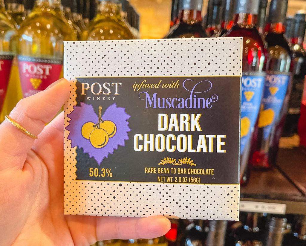 Muscadine Wine infused Chocolate from Post Winery in Arkansas
