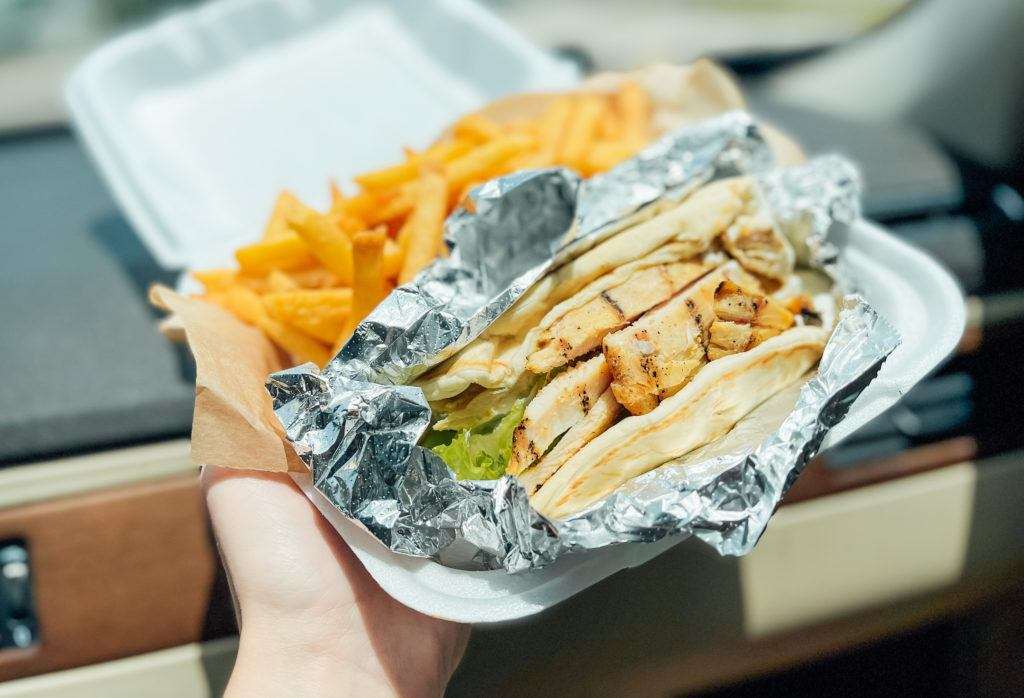 Chicken gyro from Gyros & Seafood Express in Sarasota