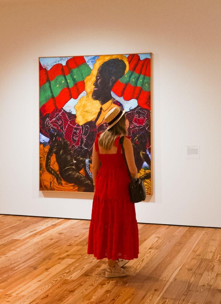 Painting by Robert Colescott at Sarasota Art Museum in Sarasota, Florida
