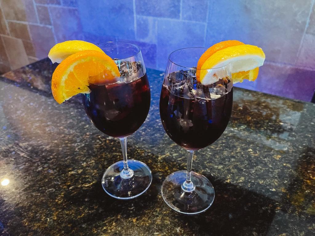 Red sangria from Bohemios Wine & Tapas Bar in Sarasota, Florida