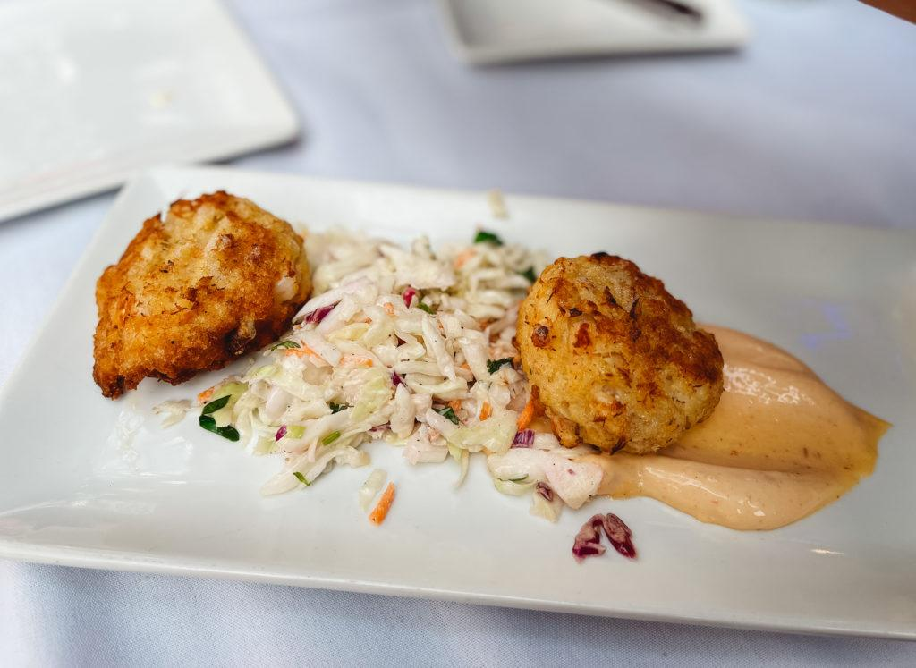 Crab and shrimp cakes from Duvals in Sarasota, Florida