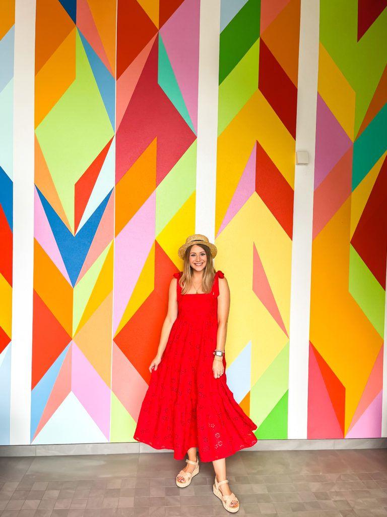 Colorful mural at the Sarasota Art Museum - Sarasota attractions