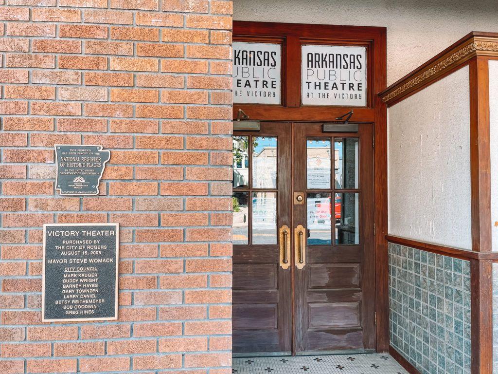 Outside of Arkansas Public Theater in Rogers, Arkansas
