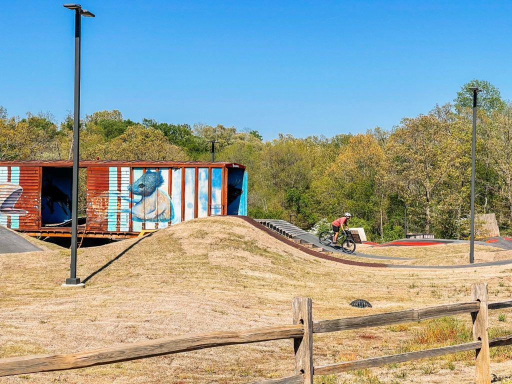 The Railyard pump track in Rogers, Arkansas